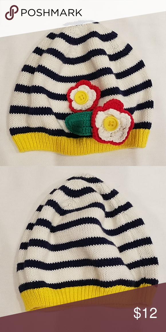 4c8e7bcbca87dd Old Navy baby girl knit hat Navy & white striped knit hat in perfect shape. So  cute!! Old Navy Accessories Hats
