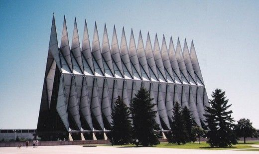 Air Force Academy Chapel outside of Colorado Springs. Beautiful structure.