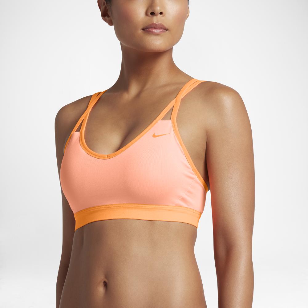 1cdb6a216432d Nike Pro Indy Women s Light Support Sports Bra Size Medium (Orange ...