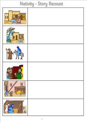 Nativity story recount1 | irc | Pinterest | EYFS, School and ...