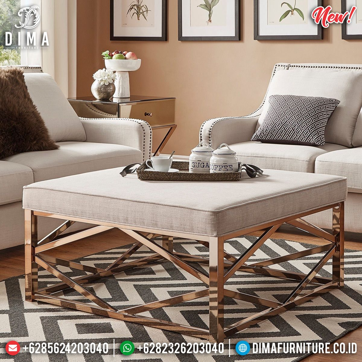 Modern Tufted Ottoman Leather Metal Wood Accent White Coffee Table Upholster New Leather Ottoman Coffee Table Tufted Ottoman Coffee Table White Leather Ottoman [ 1000 x 1000 Pixel ]