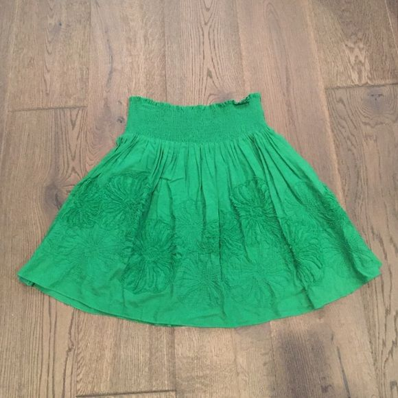 Studio M Flower Embroidered Skirt This fun flirty flare skirt is great for casual wear.  Elastic waist band and fun color will surely add great color to your wardrobe! Only worn several times in great condition. Studio M Skirts Circle & Skater