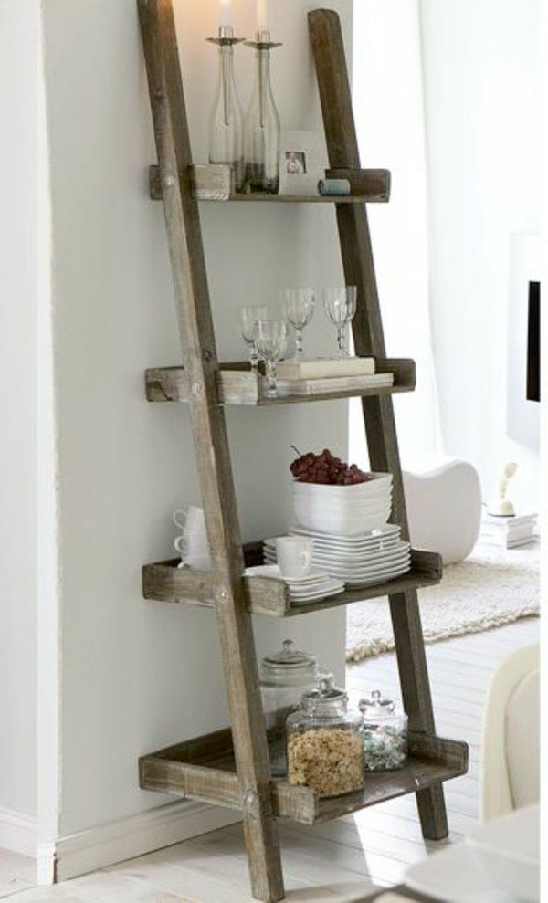 Tag re chelle plus de 65 id es en images design home decor diy ladder et - Echelle bois salle de bain ...