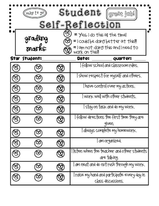 Student SelfReflection By Misspro  Class Organization