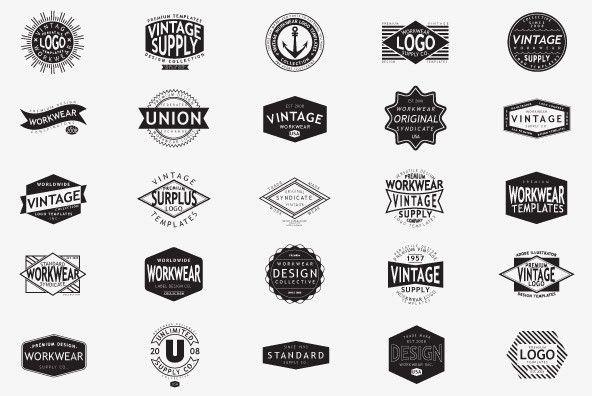 Vintage Workwear Logo Templates - Vectors - YouWorkForThem ...