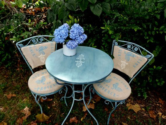 Vintage Bistro Set Patio French Country By Stoppercountry 255 00