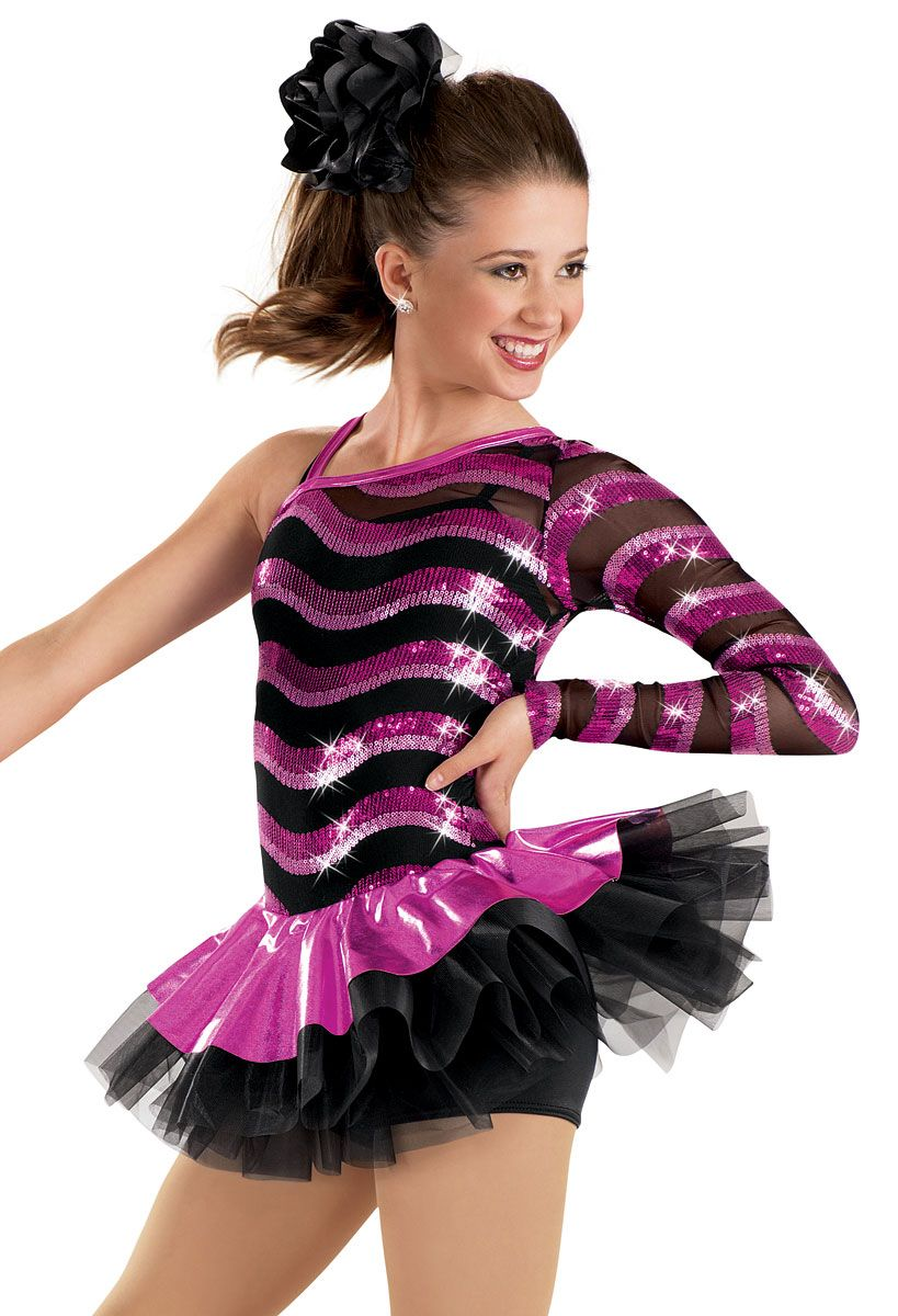 0c2360842 One Sleeve Wave Sequin Dress -Weissman Costumes