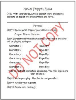 children love this activity with a group they will design puppets sets and write a screen play this activity includes directions sample screen play