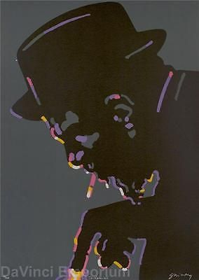 Waldemar Swierzy Lithograph Thelonious Monk Jazz Greats Signed Numbered Ltd Ed