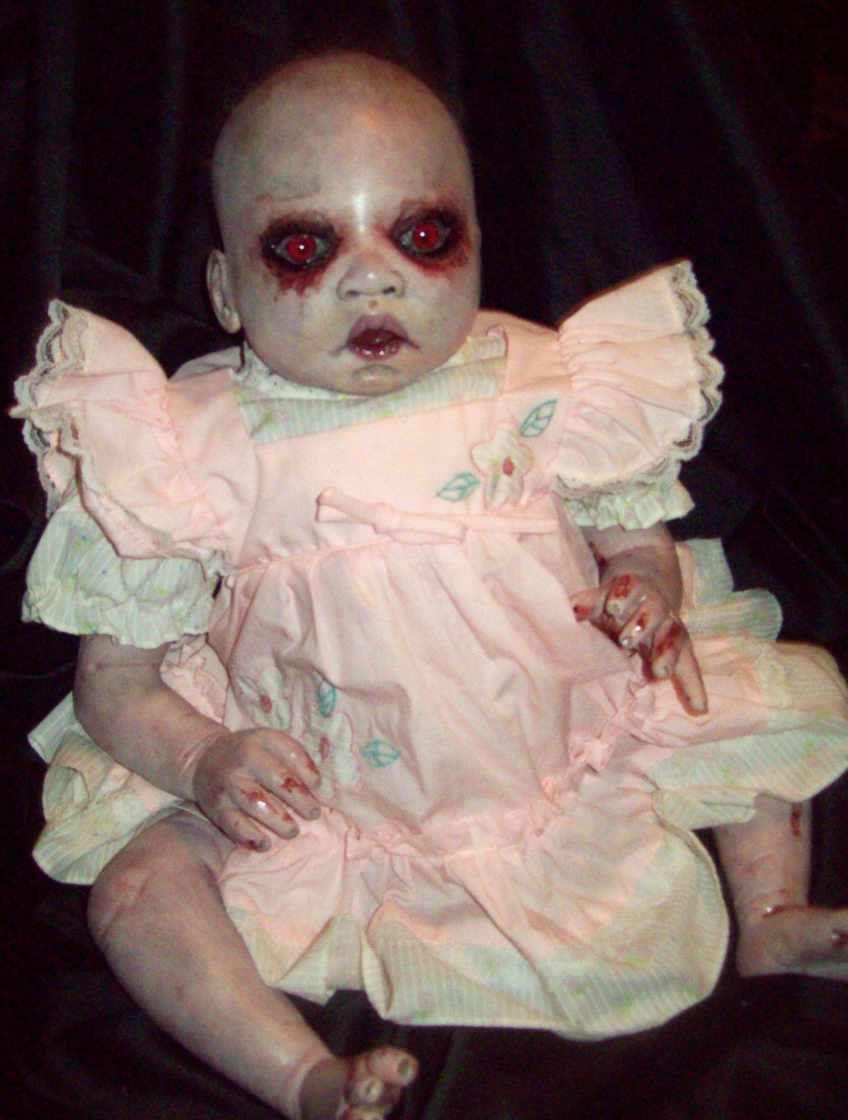 Reborn Creepy Evil Scary Zombie Baby Doll Odd Steam Punk OOAK ...