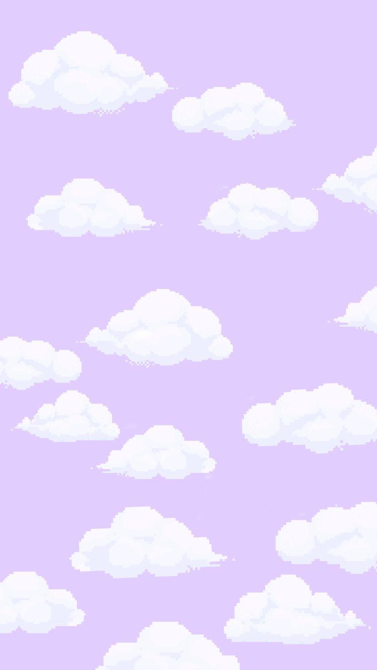 Lilac And Cloud Wallpaper Di 2020 Ilustrasi Alam Latar Belakang Lukisan Cat Air
