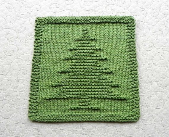 Christmas Tree Dishcloth Wash Cloth Hostess Gift 100 Cotton Unique Hand Knit Design In Sage Dishcloth Knitting Patterns Knit Dishcloth Knitting Unique