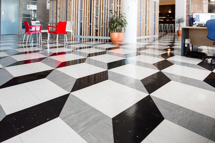30 spettacolari pavimenti 3d decorativi per interni for Piastrelle vinile