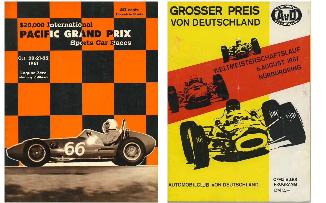 Auto Racing Programs From The Vintage Motorphoto