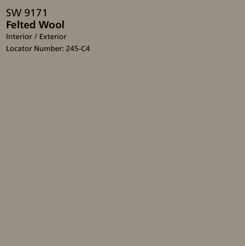 Sherwin Williams Felted Wool 9171 Wall Paint Colors Sherwin Williams Exterior Paint Color
