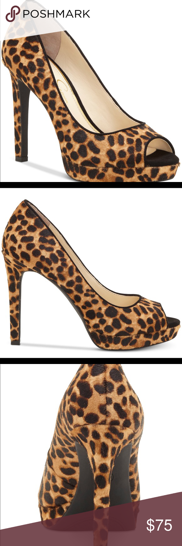 15defde6dd New Jessica Simpson Peep Toe Pumps These shoes have a gorgeous animal print  finis and will surely put the finishing touch on any look, Jessica Simpson's  ...