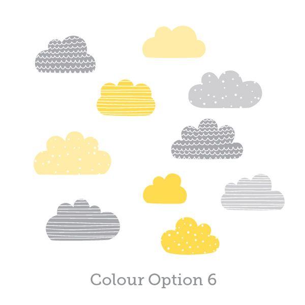 Simple Printed Pattern Cloud Wall Decals Look Great On A Nursery - Nursery wall decals clouds