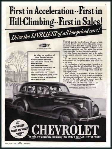 1939 Chevy Chevrolet Print Ad 1930 S Rare Old Car Ad Car Art Ebay