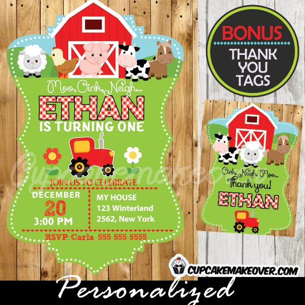 17 Best images about Farm Birthday Invitations Printables on ...