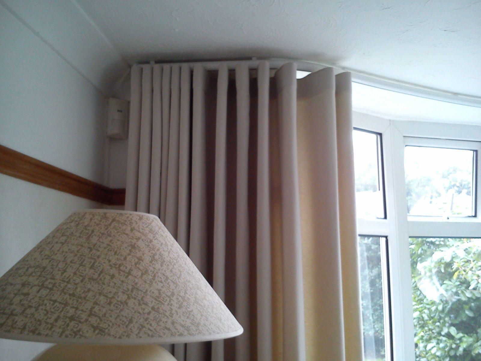 Corner Window Curtain Rods Ikea Bay Window Curtains Bay Window