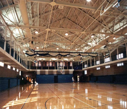 Ball Gymnasium Bb Court And Elevated Running Track