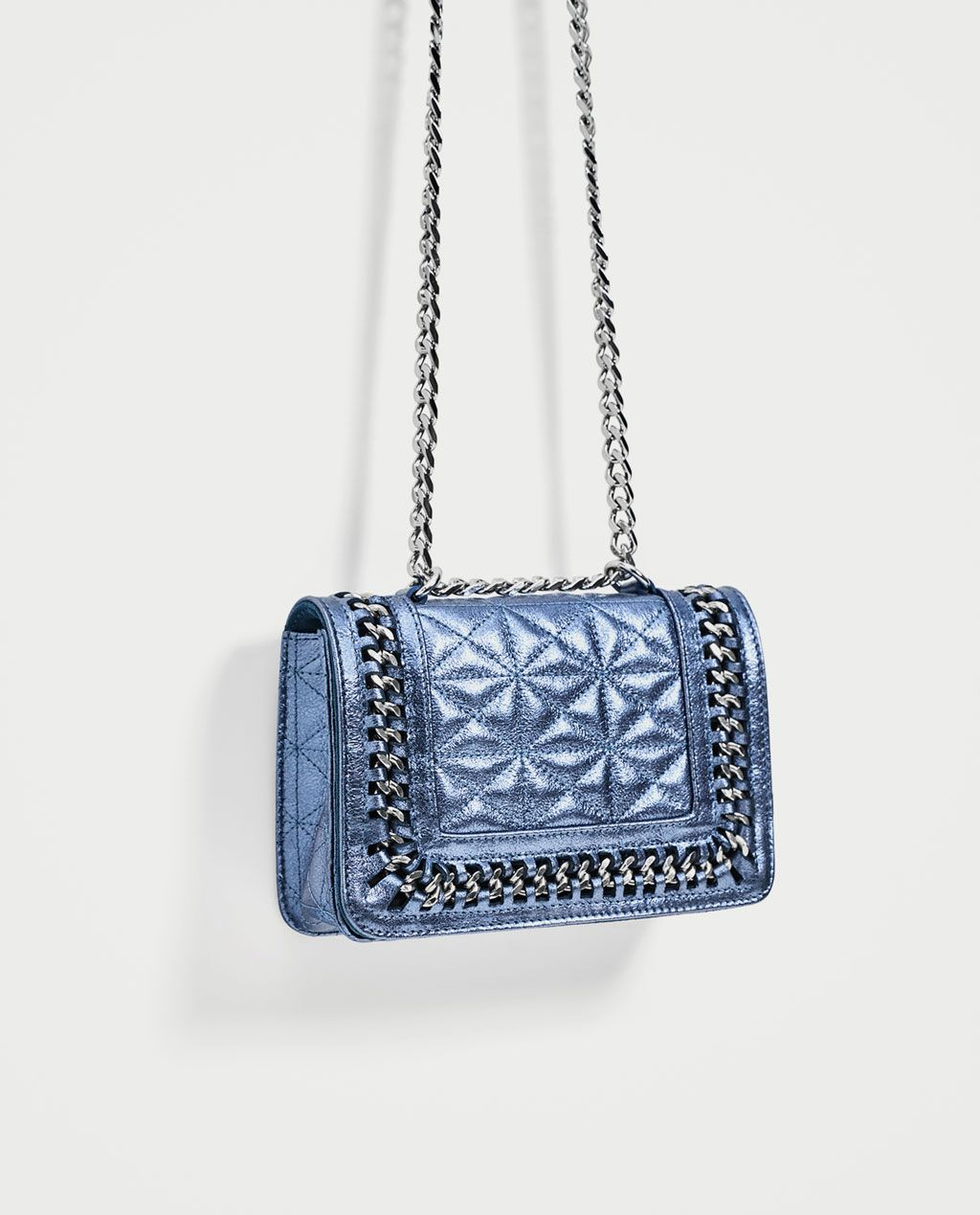 d14b606fb97 Image 1 of QUILTED LEATHER MINI CROSSBODY BAG from Zara   Love The ...