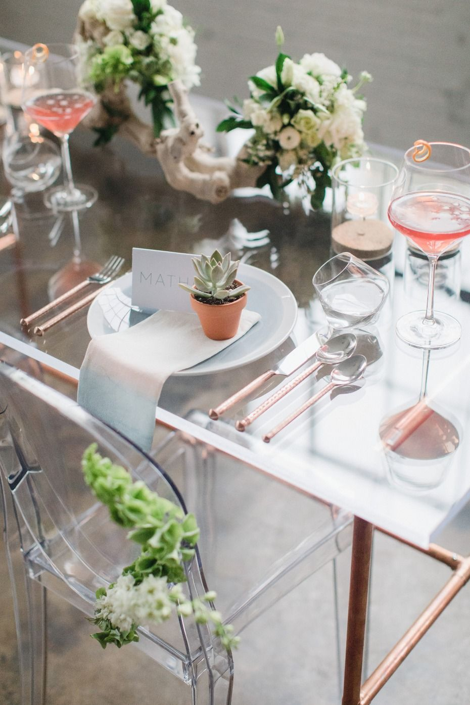 Keep it Simple Succulent Inspired Industrial Chic Wedding ...