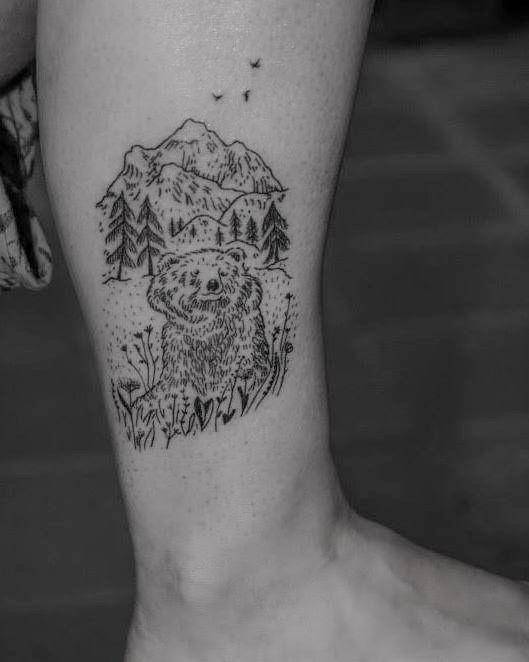 First piece of the week ; ) #forest#bear #mountain #barcelona #montseny #art#gironatattoo#linetattoo #tattoo #newtattoo#minimaltattoo #blackworktattoo #linetattoo #illustrationtattoo #tattooartist #illustrator#barcelona #barcelonatattoo #blackworkerssubmission #blacktattooart #darkartists#inkstinctsubmission #blxckink#blackboldsociety #bwplague #tttism#blacktattoomag #tattrx #skinartmag#blackartsupport #btattooing #iblackwork