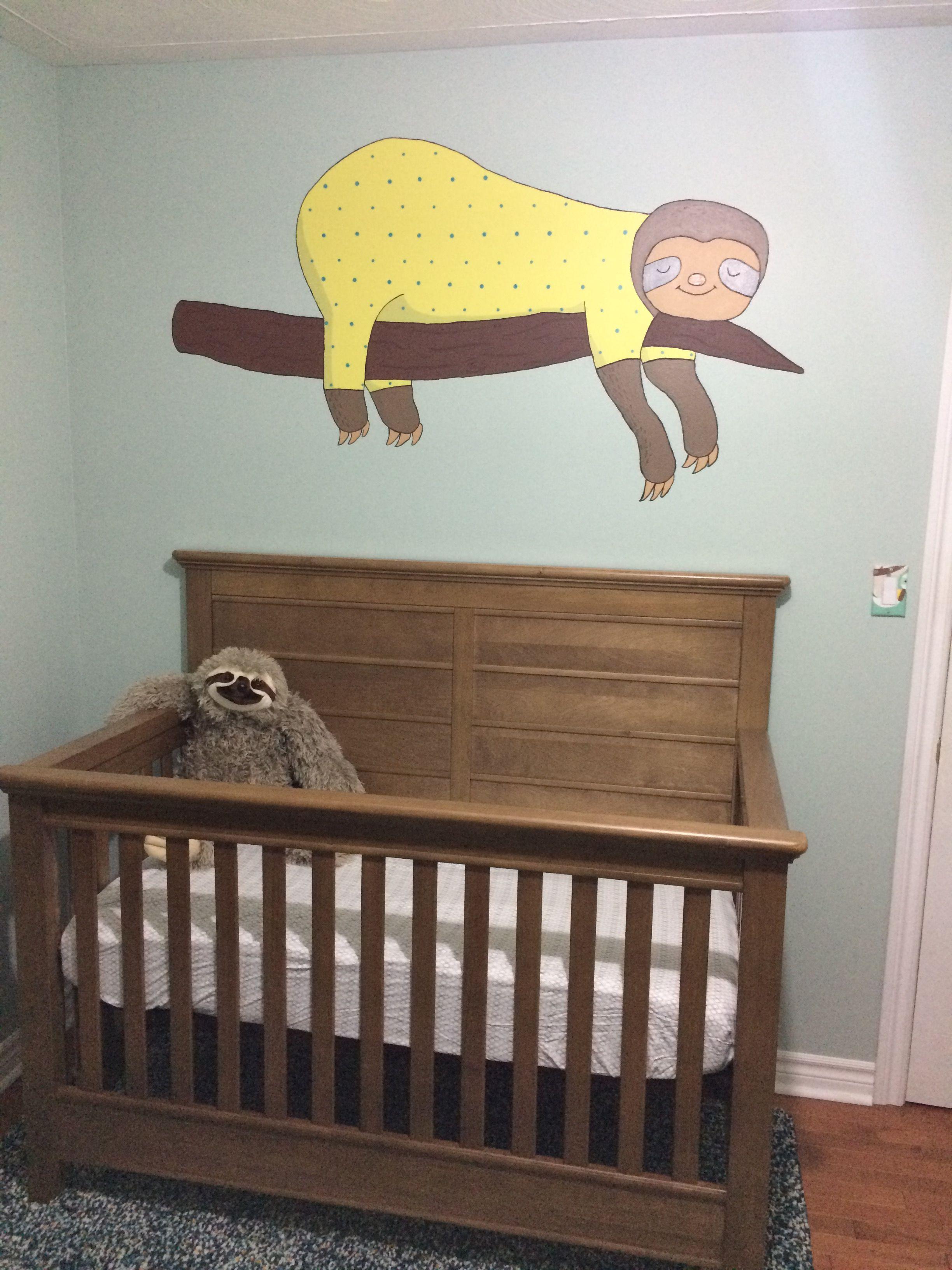 Sloth Mural For Baby S Nursery Crib