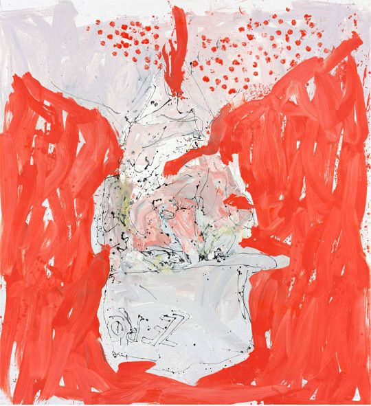 Georg Baselitz - Able fwill red . 2013 (300x275cm)