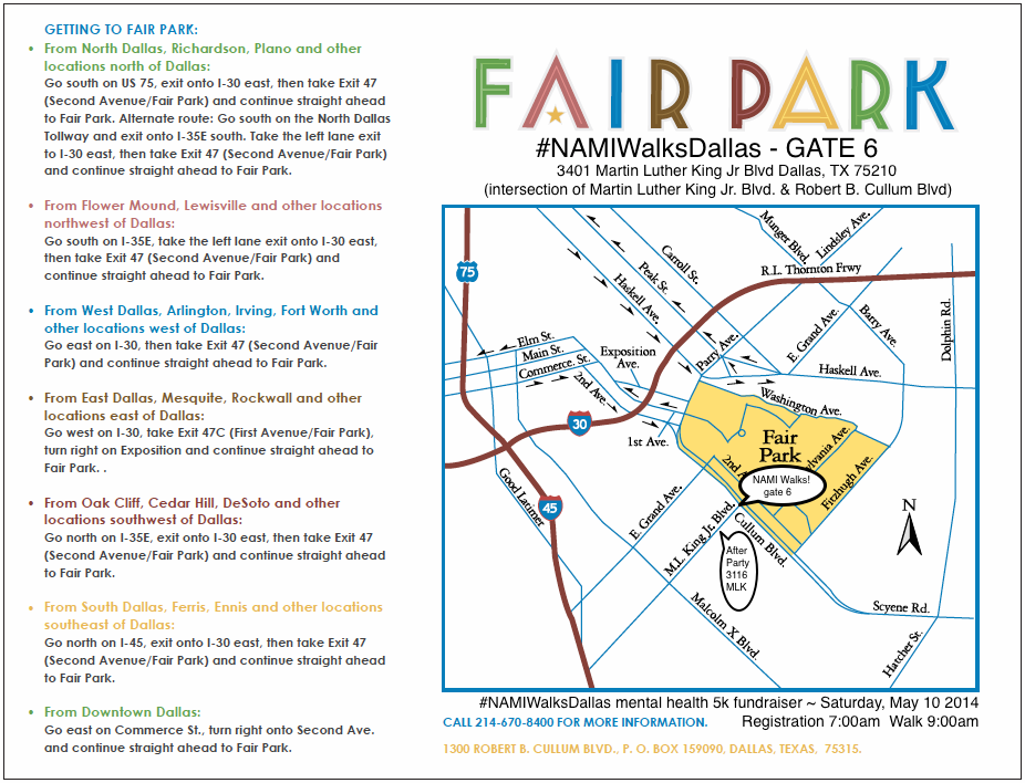 Map To Fair Park Gate 6 Namiwalksdallas Namiwalksdallas Mental