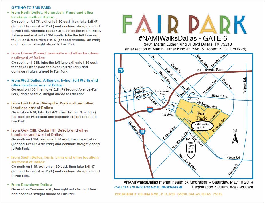 Map To Fair Park Gate 6 Namiwalksdallas Namiwalksdallas Mental