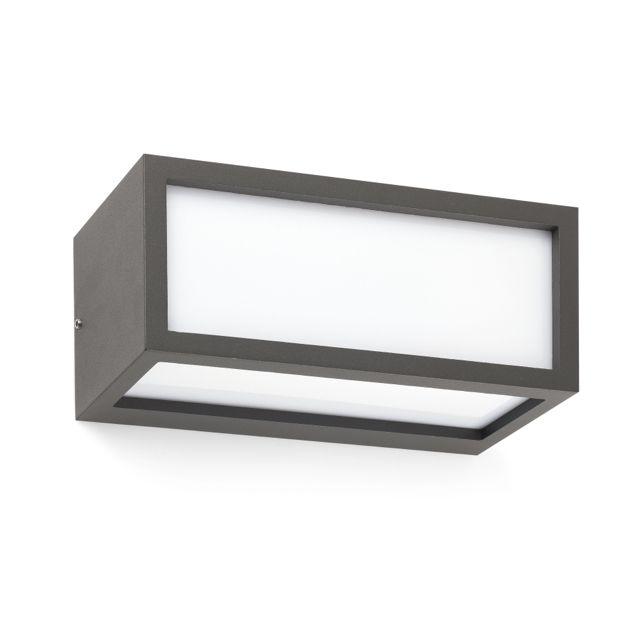 L mpara rectangular para jard n para bajo consumo o led - Focos de bajo consumo para exterior ...