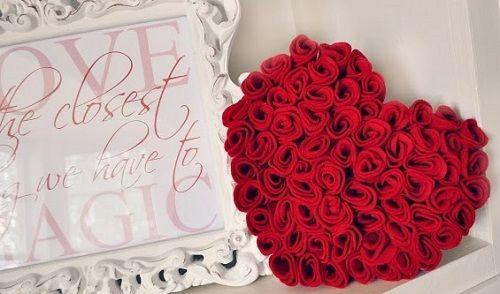 simples e linda Rosa de feltro-6