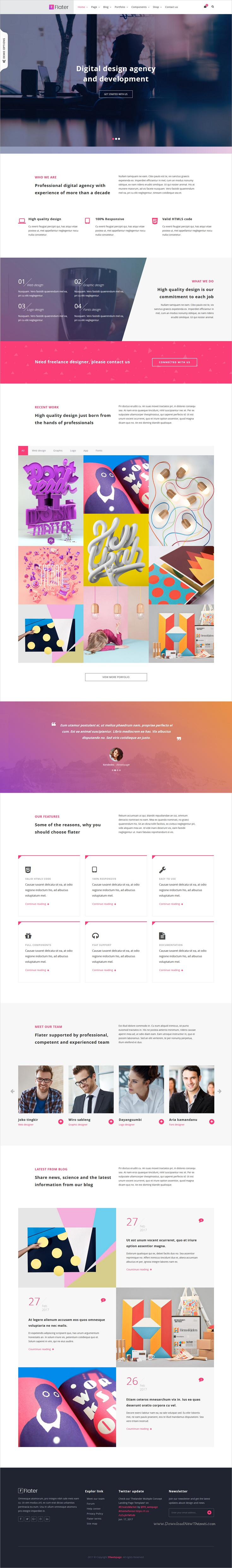 Flater is clean and modern design responsive HTML #bootstrap ...