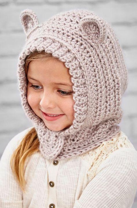 Free Happy Hoodie Crochet Pattern from www.RedHeart.com   BABY HAT 7 ...