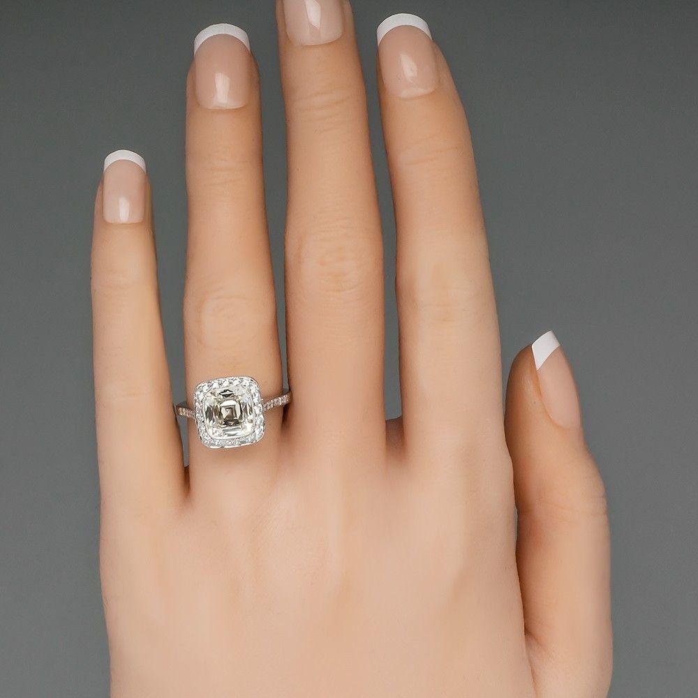 f10cff8b41033 Tiffany Legacy Engagement Ring Cushion Cut Diamond 2.8 Carat H/VVS1 ...