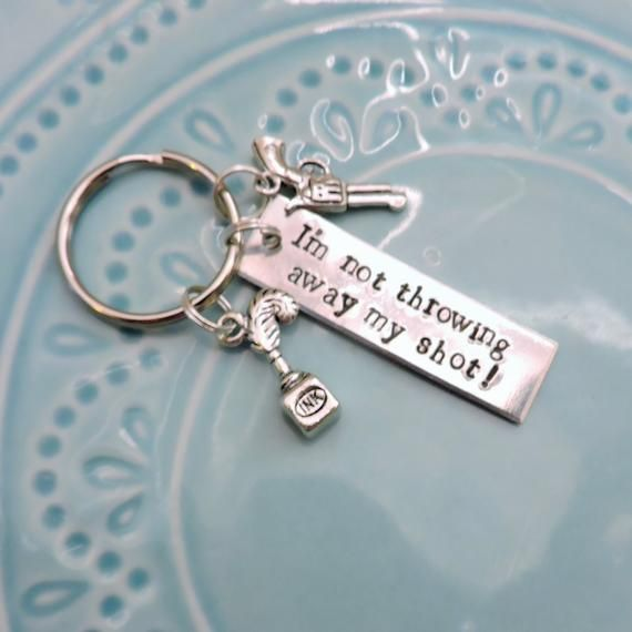 a5ccc1f60a62 Hamilton Broadway Musical Schuyler sisters A Mind at Work Charm Keychain  key fob gift Jewelry