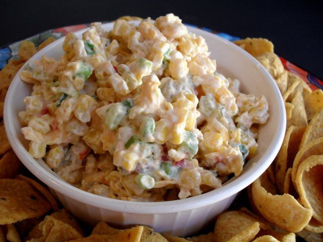 The Best Corn Dip Recipe Ever Chipsanddip Cold Appetizer Summertime Party Corn Dip Recipes Tailgate Food Mexican Corn Dip
