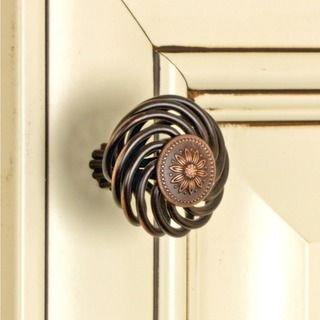 GlideRite 1.5-inch Oil Rubbed Bronze Flower Design Birdcage Cabinet Knobs (Pack of 25) - Overstock™ Shopping - Big Discounts on GlideRite Cabinet Hardware