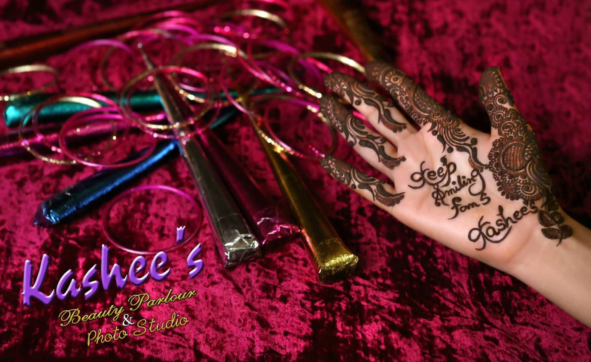 Kashee S Mehndi Makeup : Stylish mehndi designs collection  by kashee artist salon