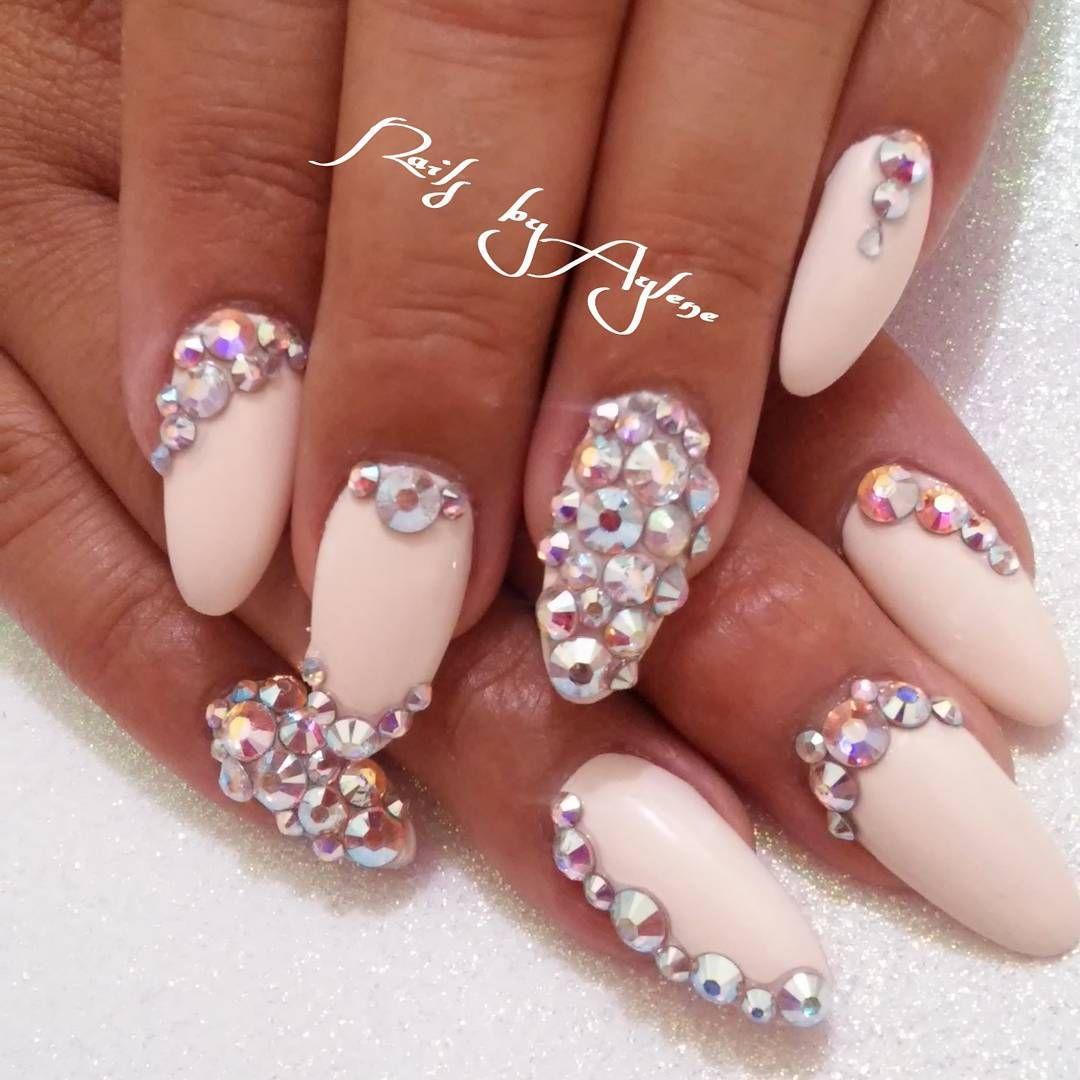 Nailsbyaylene On Instagram Nailsbyaylene Grandrapidsnailtech Nailart Swarvorsky Crystals Grandrapidsnails Grandrapids G Studded Nails Nail Tech Nails