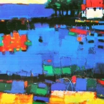 British Artist Francis Boag - Blue Field