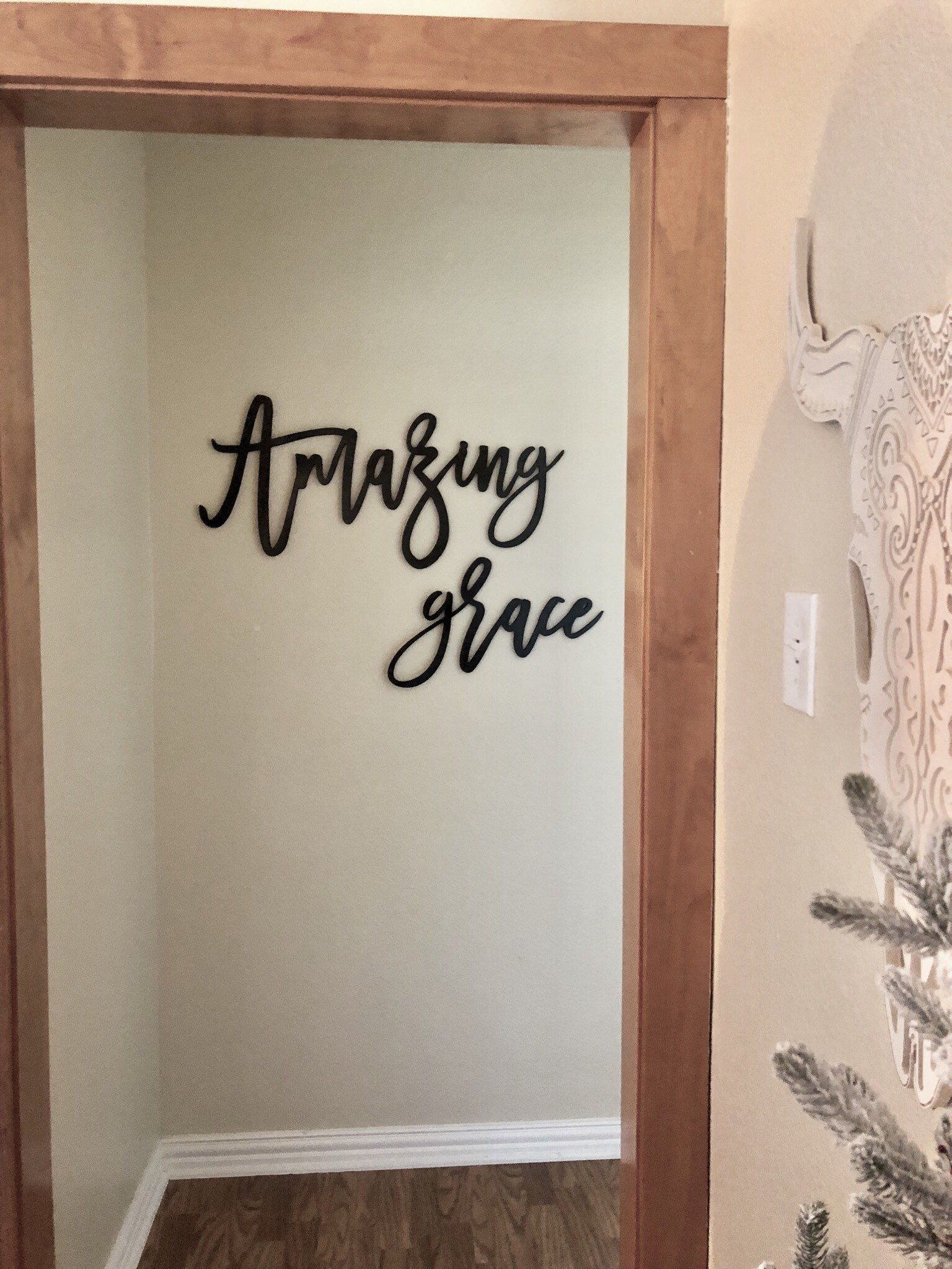 Amazing Grace Sign Diy Wood Letters Cursive Wood Words Etsy