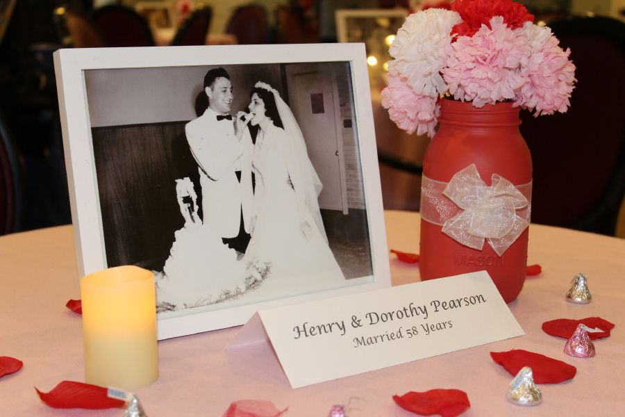 Valentines Table Decor for Senior Living and Assisted Living Communities.