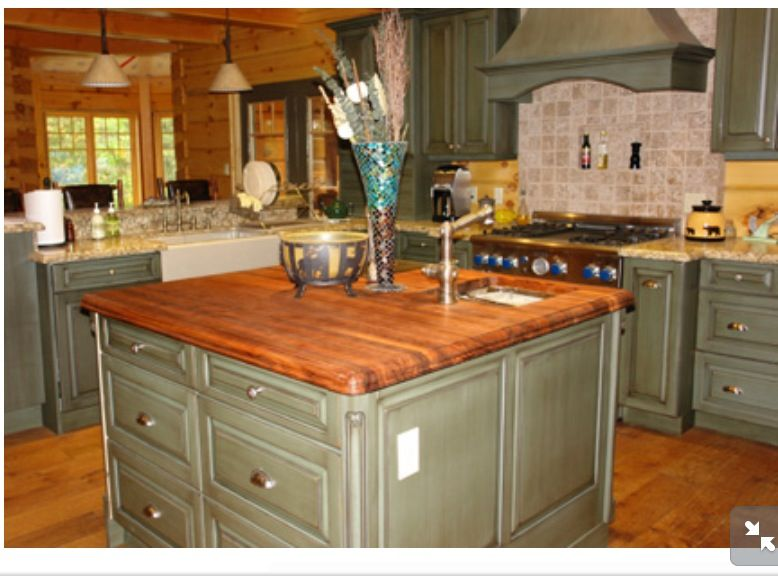 green kitchen islands green island with butcher block countertop for the 11963