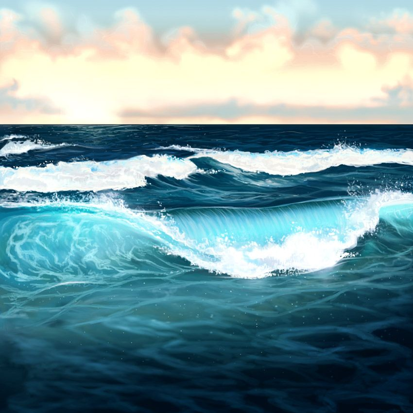 How To Draw Ocean Watercolor
