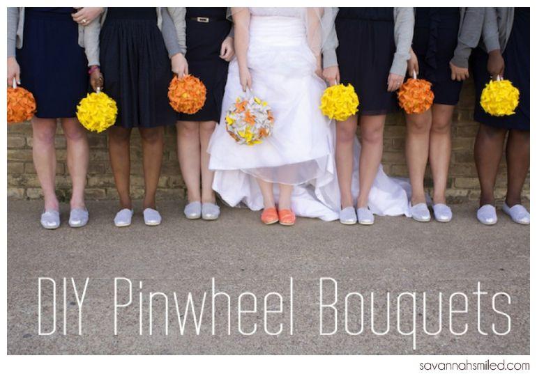 savannah.smiled: We Do Wednesday: DIY Pinwheel Bouquets