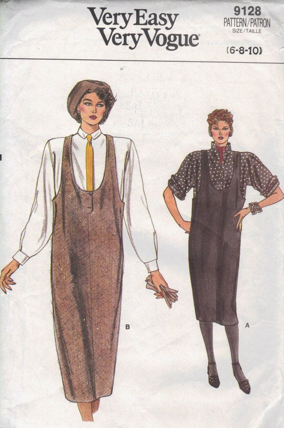 Vogue Sewing Pattern 80s Fashion Loose Fit by AdeleBeeAnnPatterns, $6.00