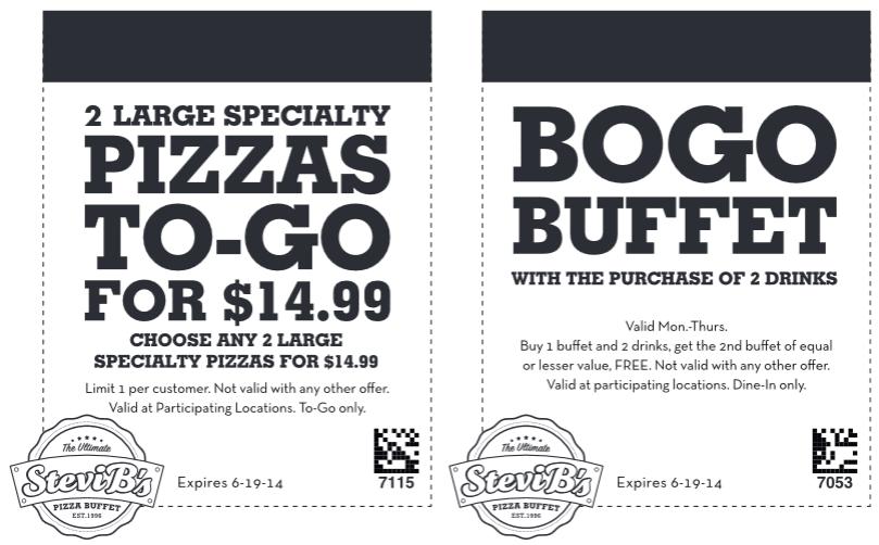 stevi b s reminder coupon for bogo free buffet more expires rh pinterest com Godfather's Pizza Buffet Coupons Godfather's Pizza Buffet Coupons